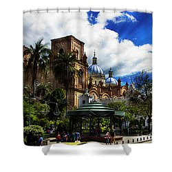 Shower Curtain featuring the photograph Magnificent Center Of Cuenca, Ecuador IIi by Al Bourassa