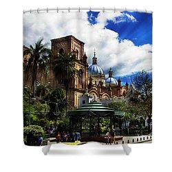 Magnificent Center Of Cuenca, Ecuador IIi Shower Curtain by Al Bourassa