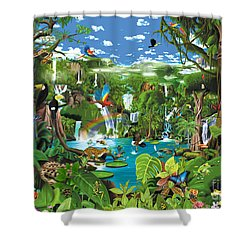 Magnificent Rainforest Shower Curtain