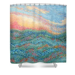 Magnificent Sunset Shower Curtain by Holly Carmichael