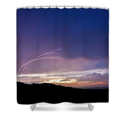 Magnificent Sunset Lightning Shower Curtain