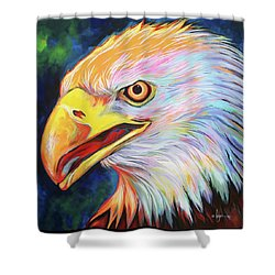 Shower Curtain featuring the painting Magnifico by Angela Treat Lyon