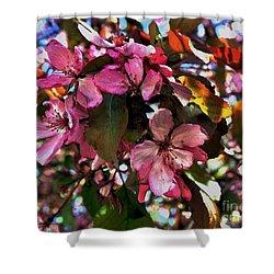 Magnolia Abstract Shower Curtain by Marsha Heiken