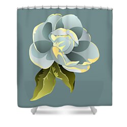 Shower Curtain featuring the digital art Magnolia Blossom Graphic by MM Anderson