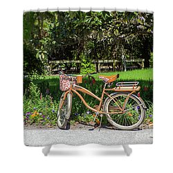 Magnolia Gardens Bicycle Shower Curtain