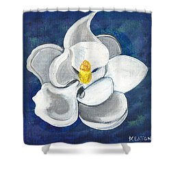 Shower Curtain featuring the painting Magnolia by John Keaton