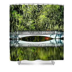 Magnolia Plantation Bridge - Charleston Sc Shower Curtain
