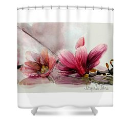 Magnolien .... Shower Curtain by Jacqueline Schreiber