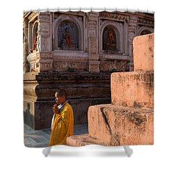Mahabodhi  Shower Curtain