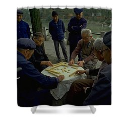 Mahjong In Guangzhou Shower Curtain