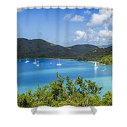 Shower Curtain featuring the photograph Maho And Francis Bays On St. John, Usvi by Adam Romanowicz
