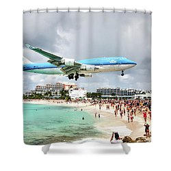 Maho Beach Caribbean Island Of St Maarten Shower Curtain