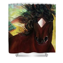 Mahogany  Shower Curtain