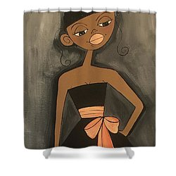 Maid Of Honor Black Dress Shower Curtain