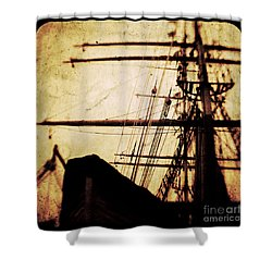 Maiden Voyage Shower Curtain by Andrew Paranavitana