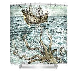 Maiden Voyage Shower Curtain by Arleana Holtzmann