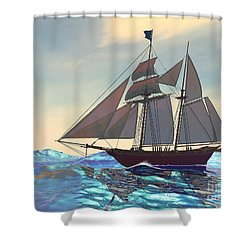 Maiden Voyage Shower Curtain by Corey Ford