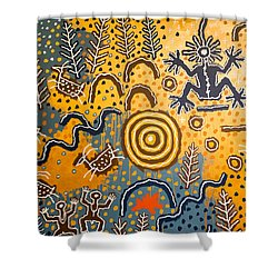 Maidu Creation Story Shower Curtain