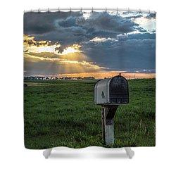 Mail Box In North Dakota  Shower Curtain