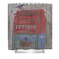 Shower Curtain featuring the painting Mail Call by Arlene Crafton