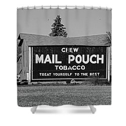 Mail Pouch Tobacco In Black And White Shower Curtain