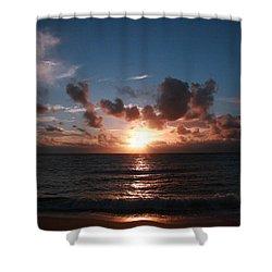 Ma'ili Sunset Shower Curtain