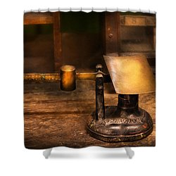 Mailman - The Mail Scale Shower Curtain by Mike Savad