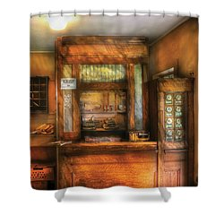 Mailman - The Post Office Shower Curtain by Mike Savad