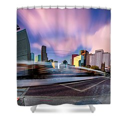 Main And Bell St Downtown Houston Texas Shower Curtain