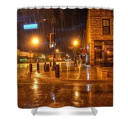 Main And Hudson Shower Curtain by Fiskr Larsen