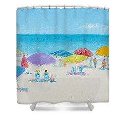 Main Beach East Hampton  Shower Curtain