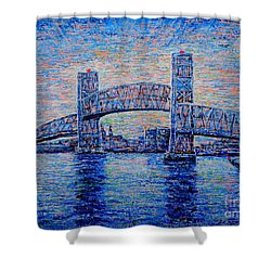 Main St.bridge,#2 Shower Curtain by Viktor Lazarev