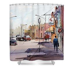 Main Street - Wautoma Shower Curtain by Ryan Radke