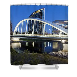 Main Street Bridge Columbus Shower Curtain