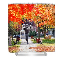 Main Street In The Fall Shower Curtain