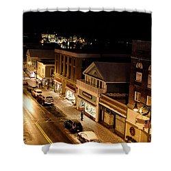 Main Street - Lake Placid New York Shower Curtain by Brendan Reals
