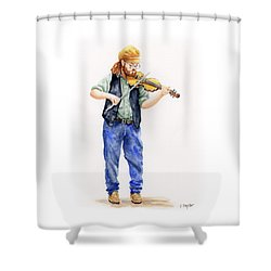 Main Street Minstrel 1 Shower Curtain