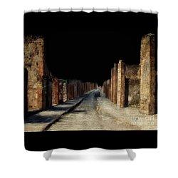 Main Street, Pompeii Shower Curtain by Lois Bryan