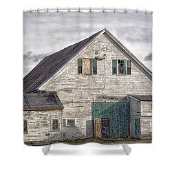 Maine Farm Barn Shower Curtain by Richard Bean