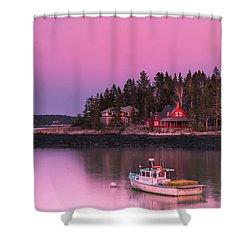 Maine Five Islands Coastal Sunset Shower Curtain