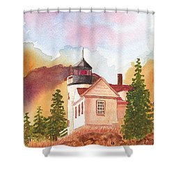 Maine Lighthouse In Morning Light Shower Curtain