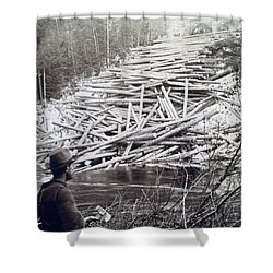 Maine Logging -  C 1903 Shower Curtain by International  Images