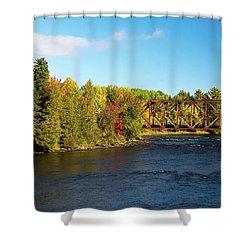 Maine Rail Line Shower Curtain