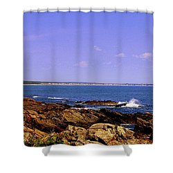 Maine  Rocky Coast Shower Curtain