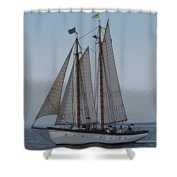 Maine Schooner Shower Curtain
