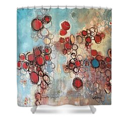 Shower Curtain featuring the painting Maintain Your Faith by Laurie Maves ART