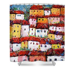 Maisons De Ville Shower Curtain