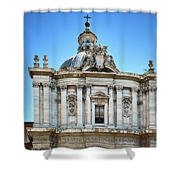 Shower Curtain featuring the photograph Majestic Architecture In The Roman Forum by Eduardo Jose Accorinti