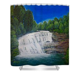 Majestic Bald River Falls Of Appalachia II Shower Curtain