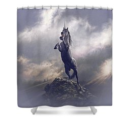 Shower Curtain featuring the digital art Majestic Dignity  by Uwe Jarling